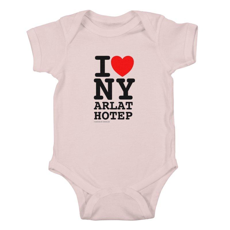 I Love Nyarlathotep (alt.) Kids Baby Bodysuit by ABELACLE