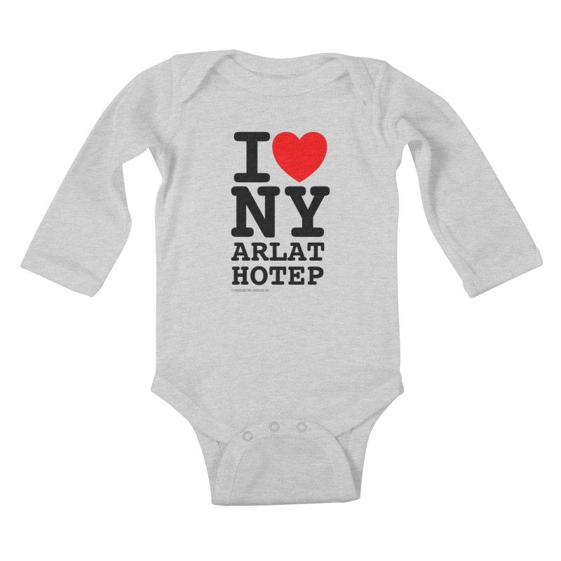 I Love Nyarlathotep (alt.) Kids Baby Longsleeve Bodysuit by ABELACLE