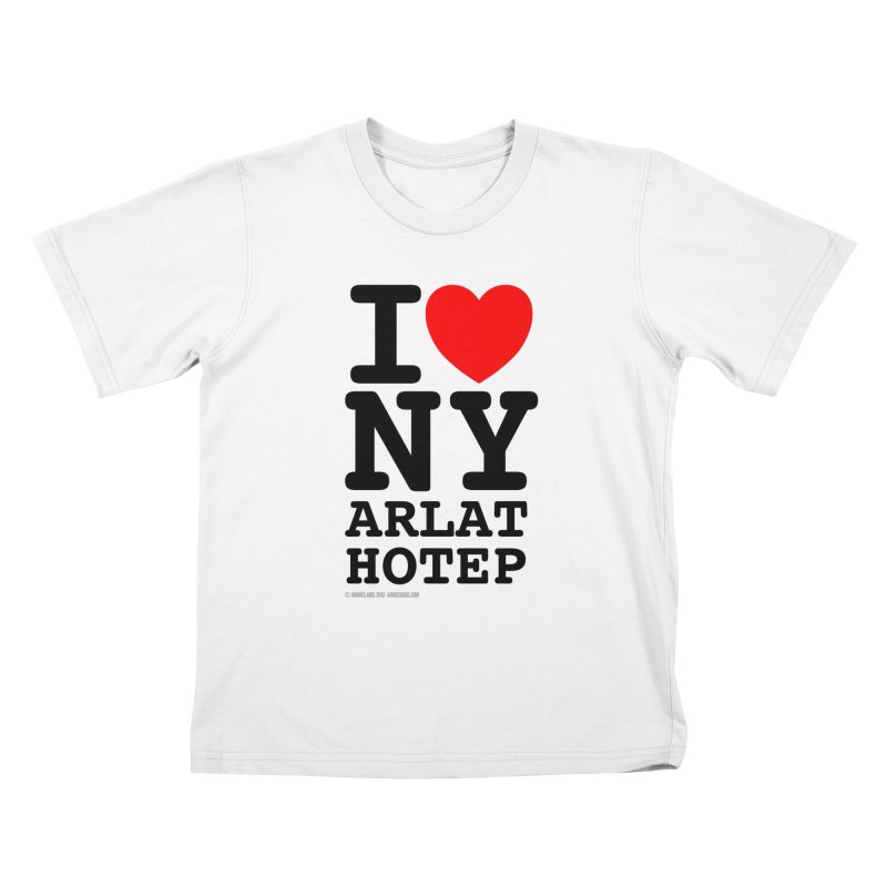 I Love Nyarlathotep (alt.) Kids T-Shirt by ABELACLE