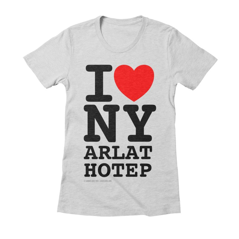 I Love Nyarlathotep (alt.) Women's Fitted T-Shirt by ABELACLE