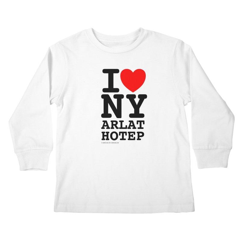 I Love Nyarlathotep (alt.) Kids Longsleeve T-Shirt by ABELACLE