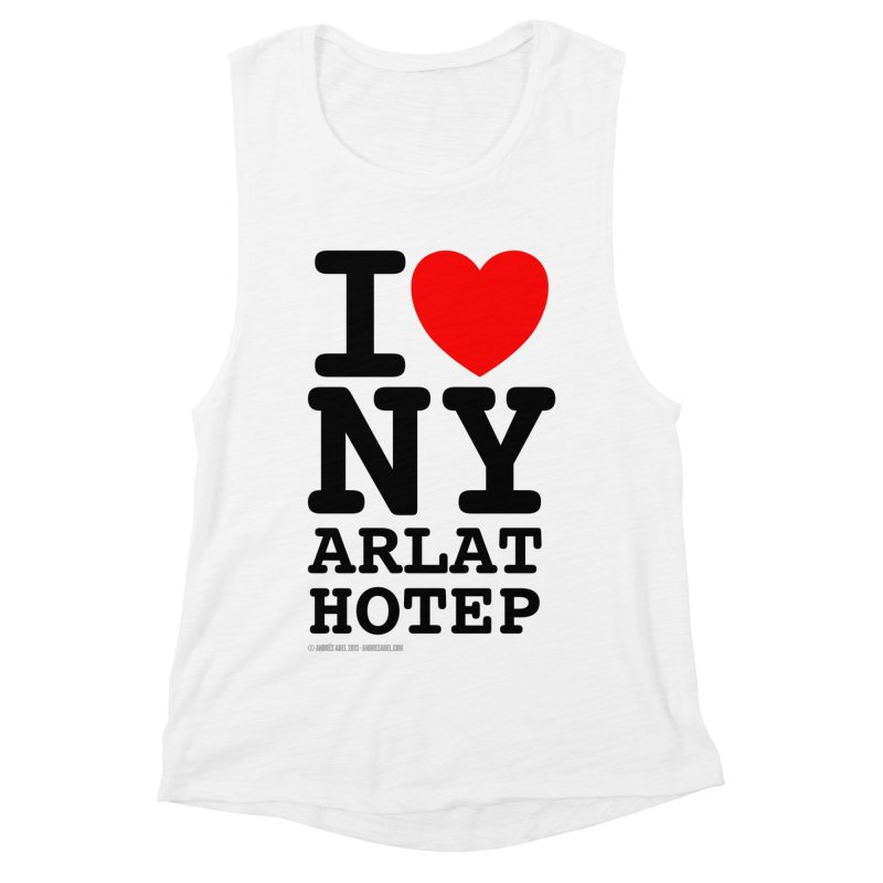 I Love Nyarlathotep (alt.) Women's Muscle Tank by ABELACLE
