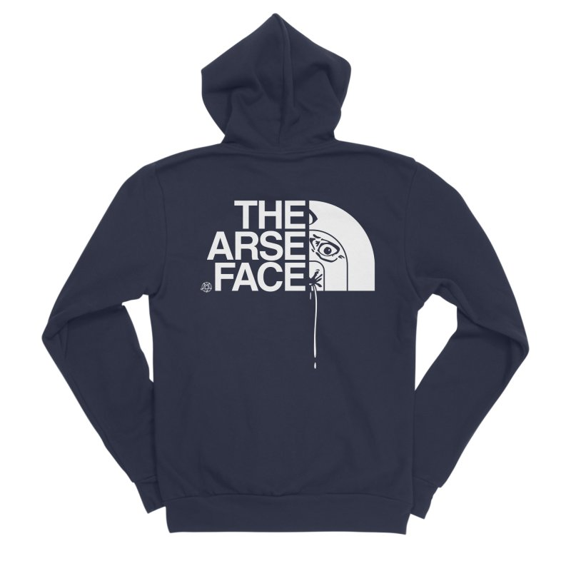 The Arse Face Women's Sponge Fleece Zip-Up Hoody by ABELACLE