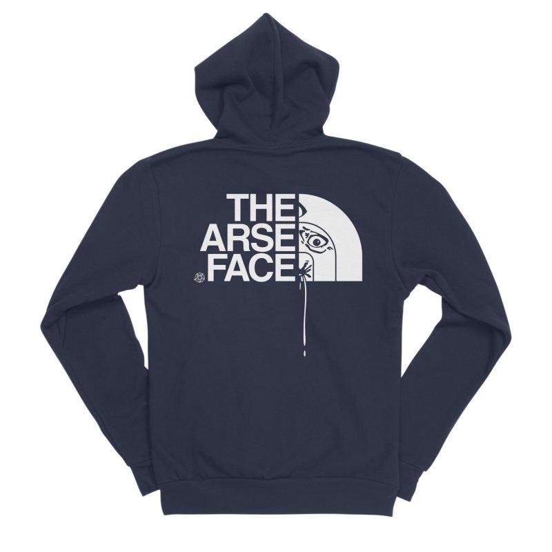 The Arse Face Men's Sponge Fleece Zip-Up Hoody by ABELACLE