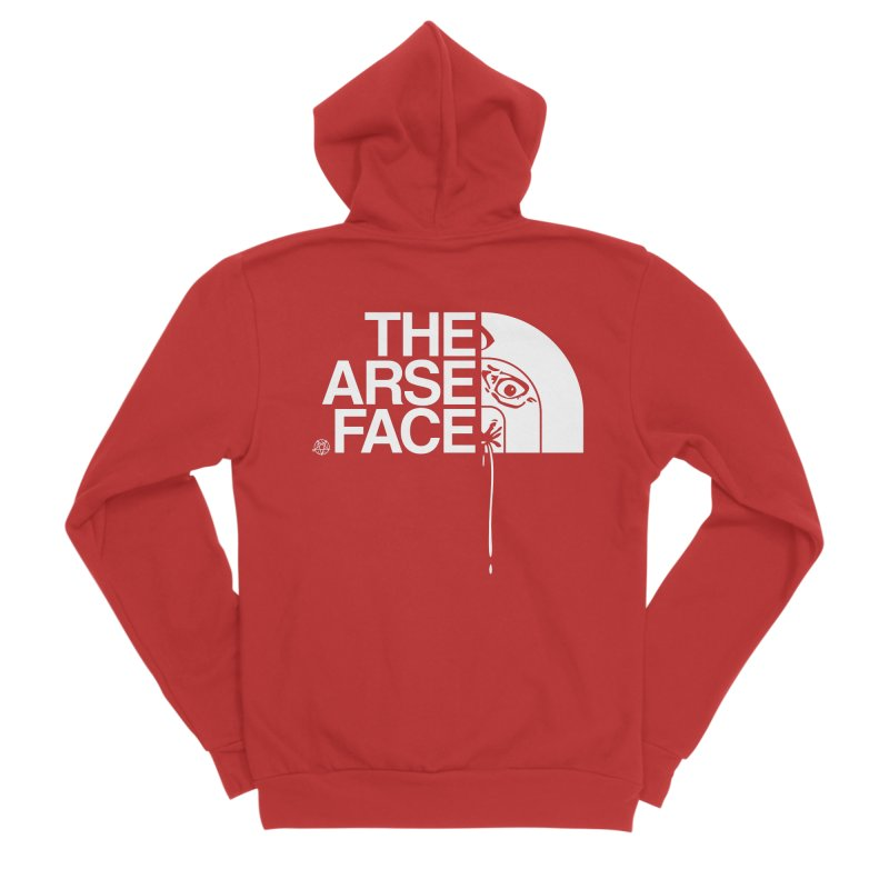 The Arse Face Men's Zip-Up Hoody by ABELACLE.