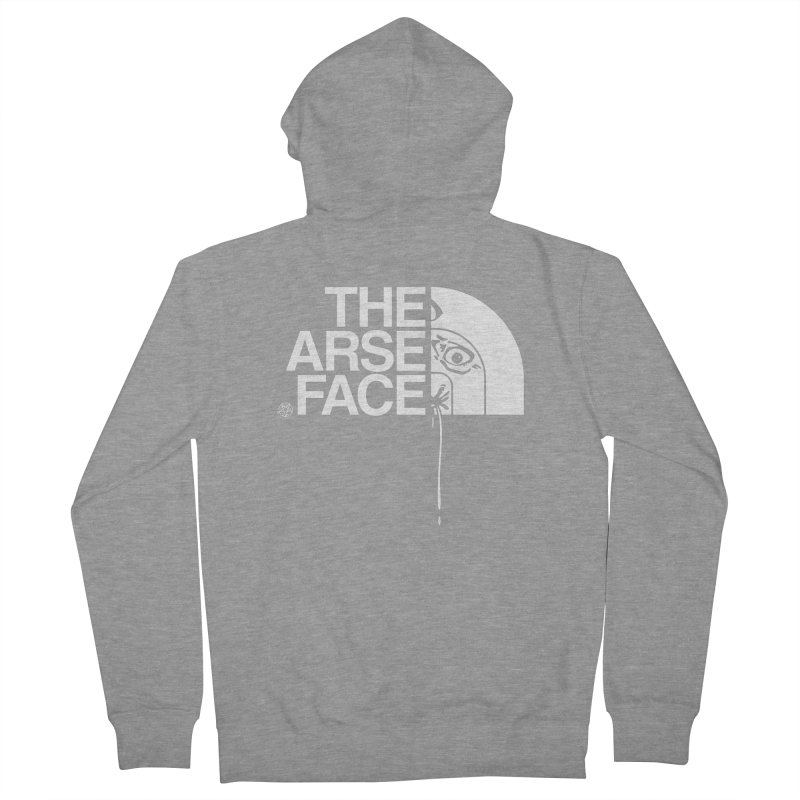 The Arse Face Men's French Terry Zip-Up Hoody by ABELACLE