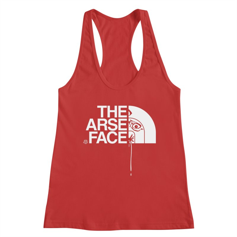 The Arse Face Women's Racerback Tank by ABELACLE