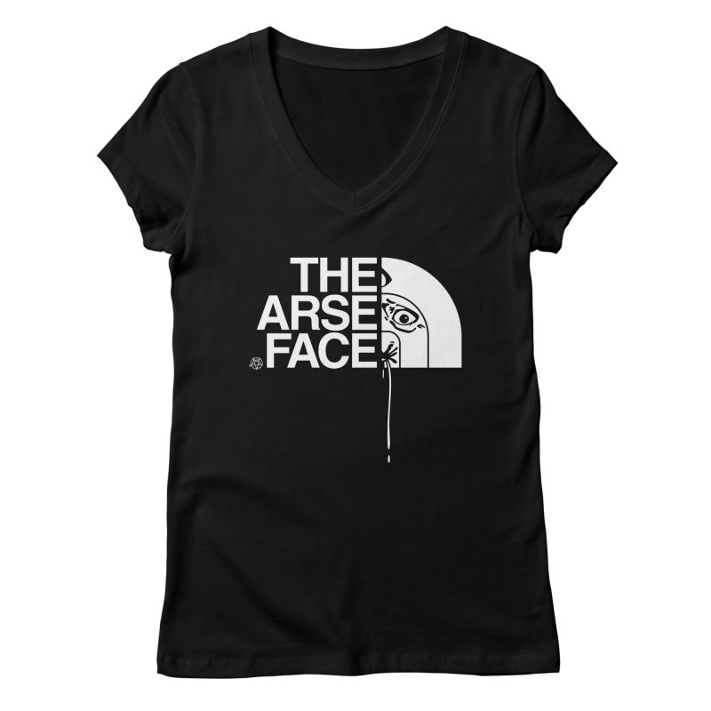 The Arse Face Women's Regular V-Neck by ABELACLE