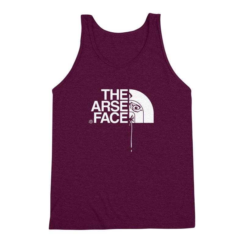 The Arse Face Men's Triblend Tank by ABELACLE