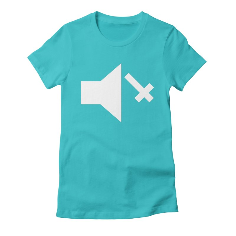 Mute Metal Women's Fitted T-Shirt by ABELACLE