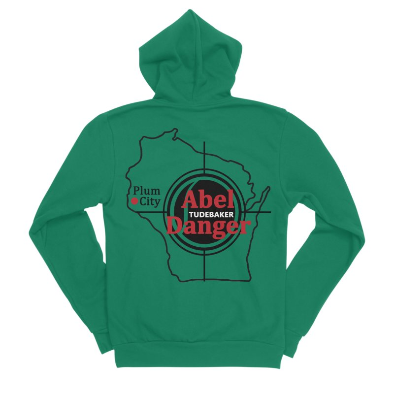 Abel Danger Logo Merchandise Women's Sponge Fleece Zip-Up Hoody by Abel Danger Artist Shop
