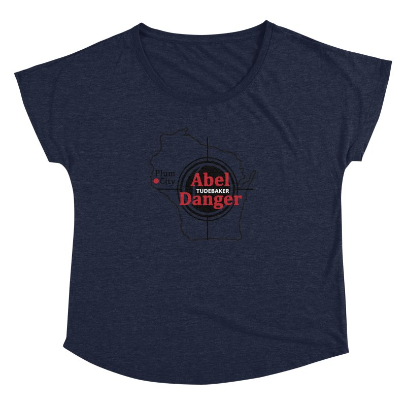 Abel Danger Logo Merchandise Women's Dolman Scoop Neck by Abel Danger Artist Shop