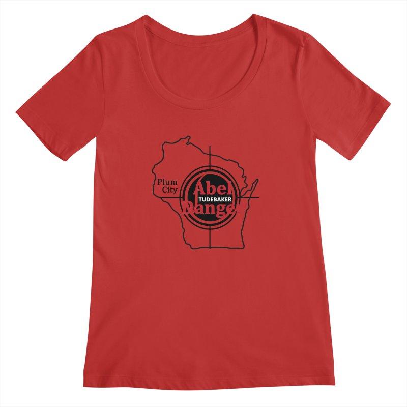 Abel Danger Logo Merchandise Women's Regular Scoop Neck by Abel Danger Artist Shop
