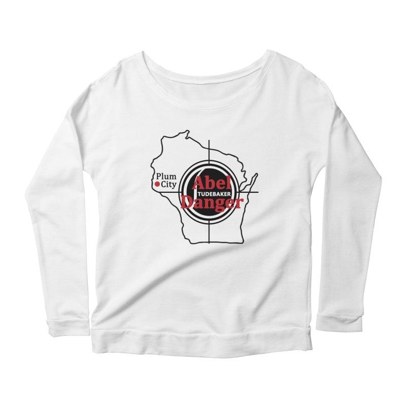 Abel Danger Logo Merchandise Women's Scoop Neck Longsleeve T-Shirt by Abel Danger Artist Shop