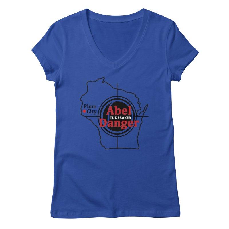 Abel Danger Logo Merchandise Women's Regular V-Neck by Abel Danger Artist Shop