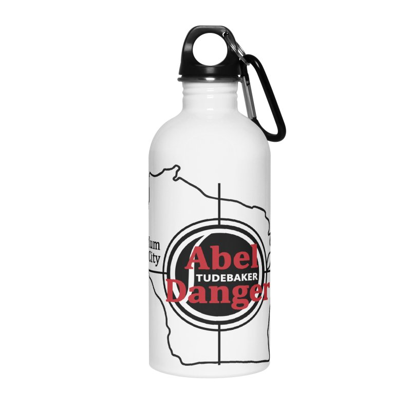 Abel Danger Logo Merchandise Accessories Water Bottle by Abel Danger Artist Shop