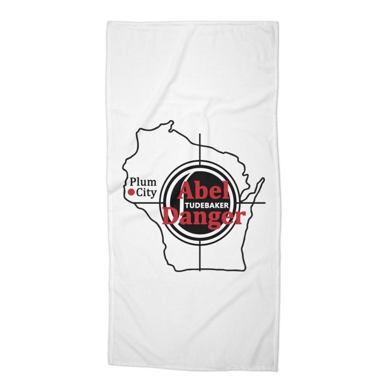 Abel Danger Logo Merchandise Accessories Beach Towel by Abel Danger Artist Shop