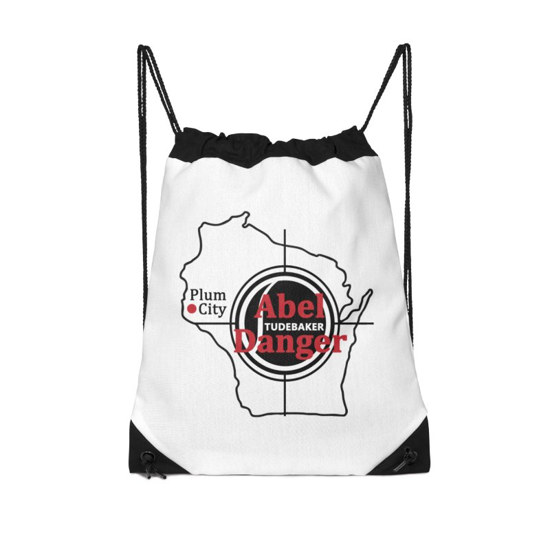 Abel Danger Logo Merchandise Accessories Drawstring Bag Bag by Abel Danger Artist Shop