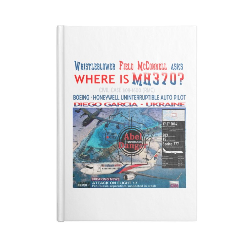 Where is MH370 Accessories Lined Journal Notebook by Abel Danger Artist Shop