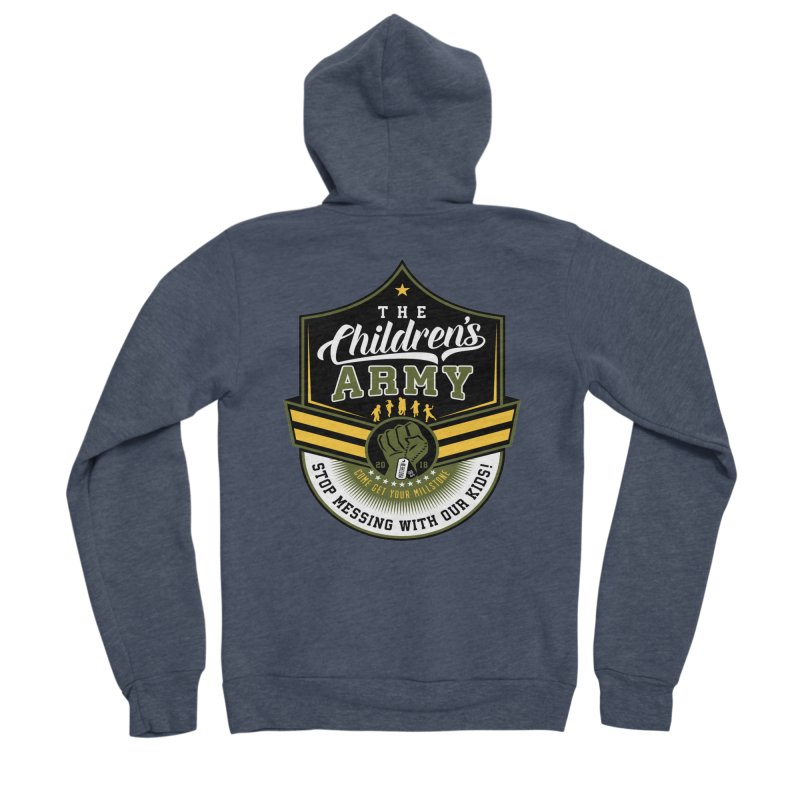 THE CHILDRENS ARMY Men's Sponge Fleece Zip-Up Hoody by Abel Danger Artist Shop