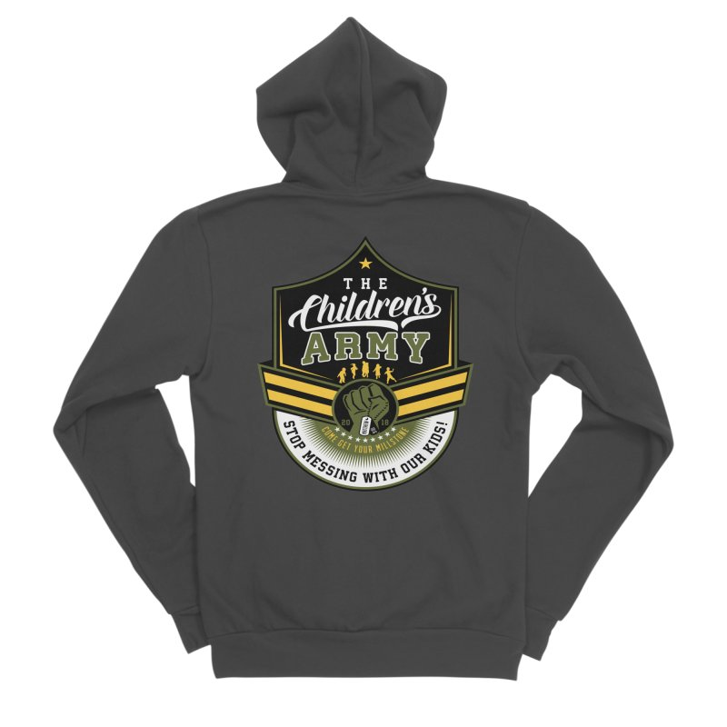 THE CHILDRENS ARMY Women's Sponge Fleece Zip-Up Hoody by Abel Danger Artist Shop