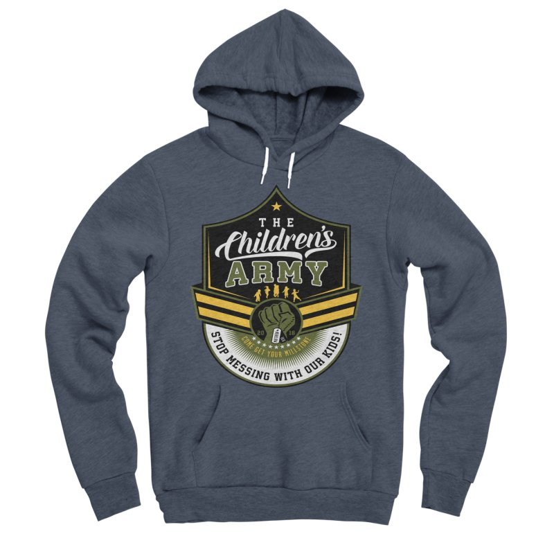 THE CHILDRENS ARMY Men's Sponge Fleece Pullover Hoody by Abel Danger Artist Shop