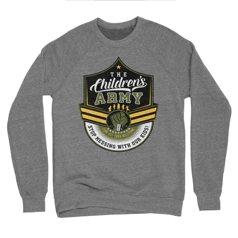 THE CHILDRENS ARMY Men's Sponge Fleece Sweatshirt by Abel Danger Artist Shop