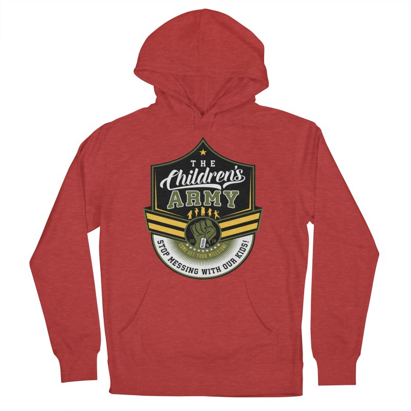 THE CHILDRENS ARMY Women's French Terry Pullover Hoody by Abel Danger Artist Shop
