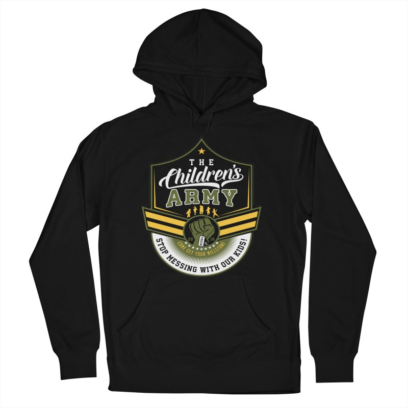THE CHILDRENS ARMY Men's French Terry Pullover Hoody by Abel Danger Artist Shop