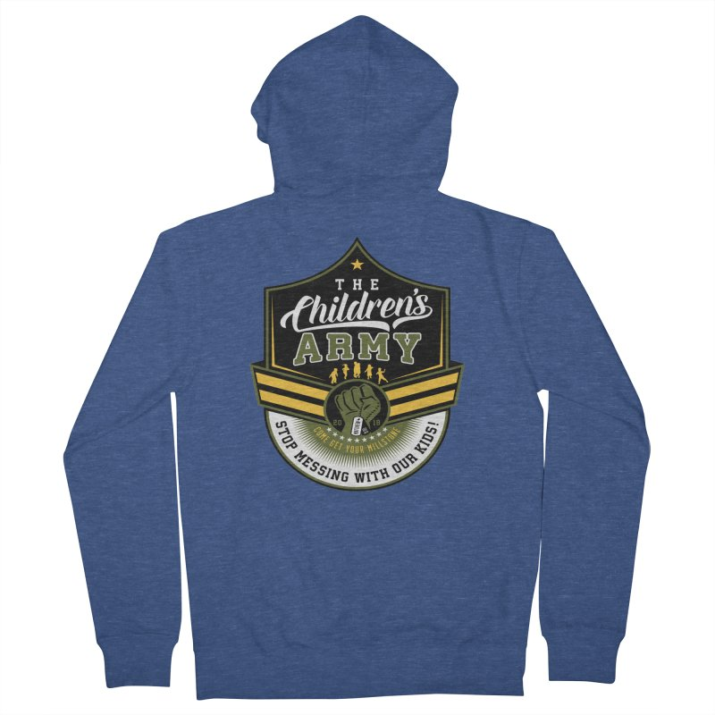 THE CHILDRENS ARMY Women's French Terry Zip-Up Hoody by Abel Danger Artist Shop