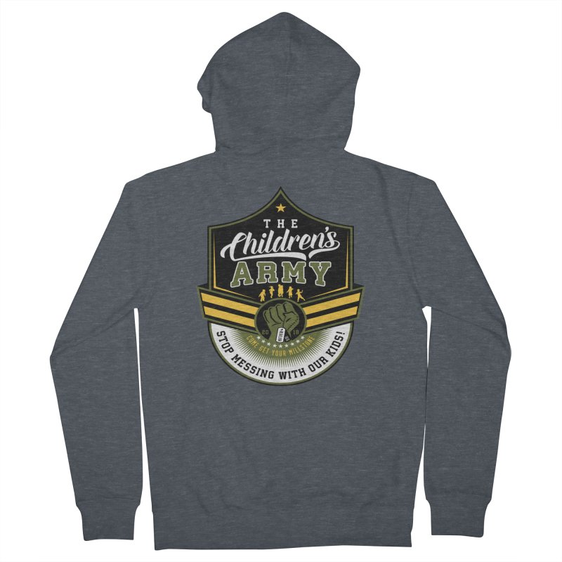 THE CHILDRENS ARMY Men's French Terry Zip-Up Hoody by Abel Danger Artist Shop