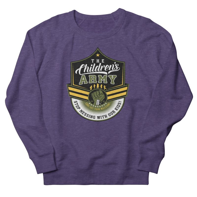 THE CHILDRENS ARMY Women's French Terry Sweatshirt by Abel Danger Artist Shop