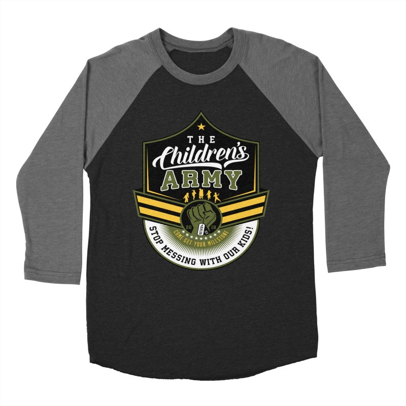 THE CHILDRENS ARMY Women's Baseball Triblend Longsleeve T-Shirt by Abel Danger Artist Shop