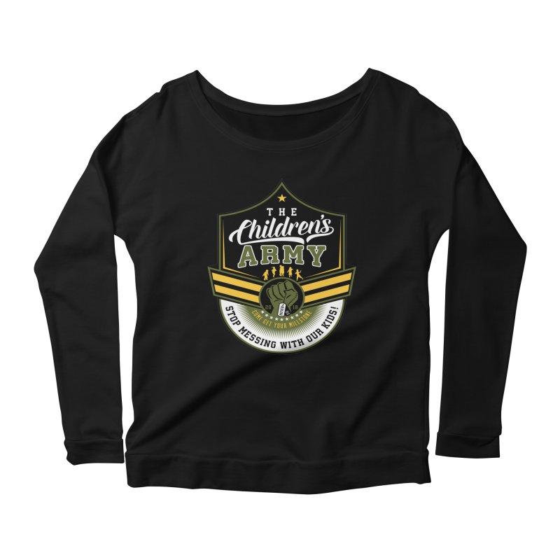 THE CHILDRENS ARMY Women's Scoop Neck Longsleeve T-Shirt by Abel Danger Artist Shop