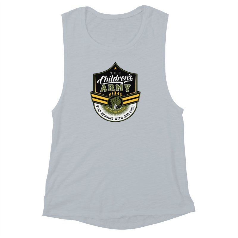 THE CHILDRENS ARMY Women's Muscle Tank by Abel Danger Artist Shop