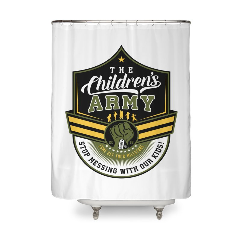 THE CHILDRENS ARMY Home Shower Curtain by Abel Danger Artist Shop