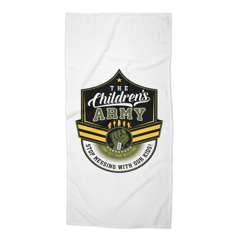 THE CHILDRENS ARMY Accessories Beach Towel by Abel Danger Artist Shop