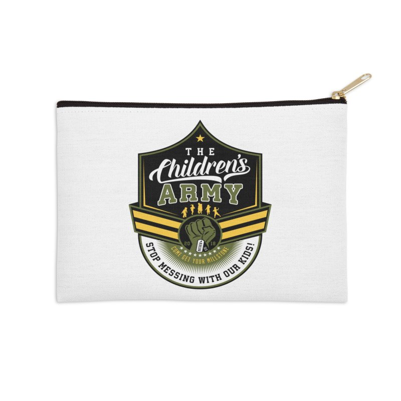 THE CHILDRENS ARMY Accessories Zip Pouch by Abel Danger Artist Shop