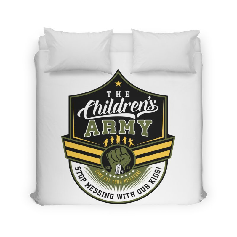 THE CHILDRENS ARMY Home Duvet by Abel Danger Artist Shop