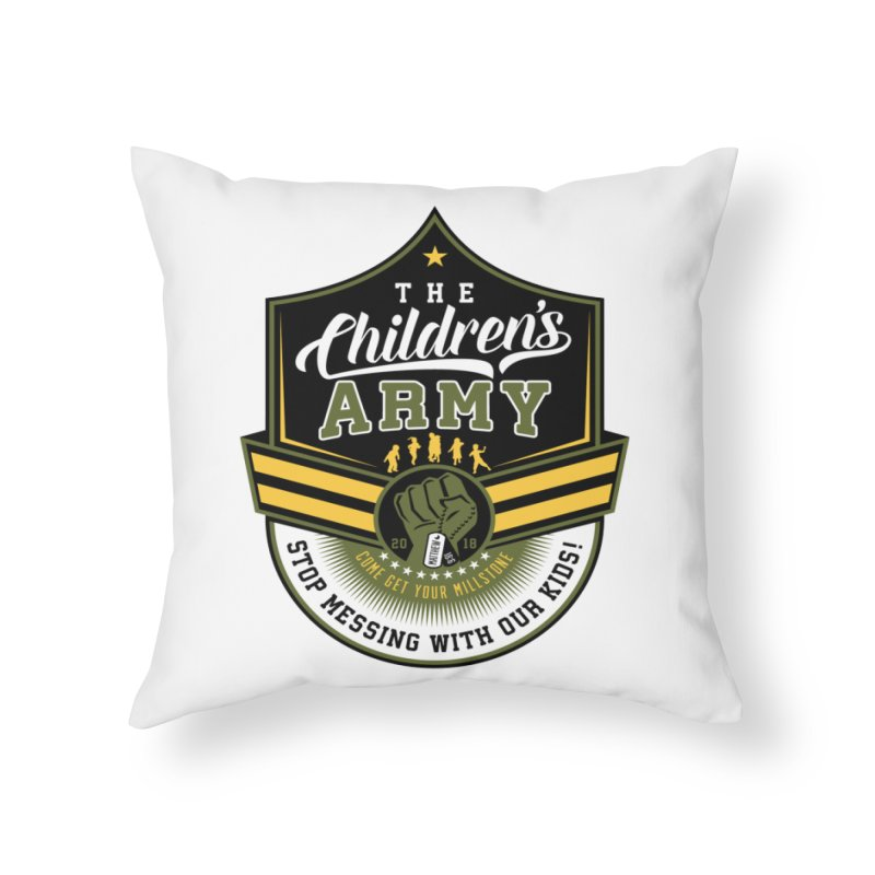 THE CHILDRENS ARMY Home Throw Pillow by Abel Danger Artist Shop