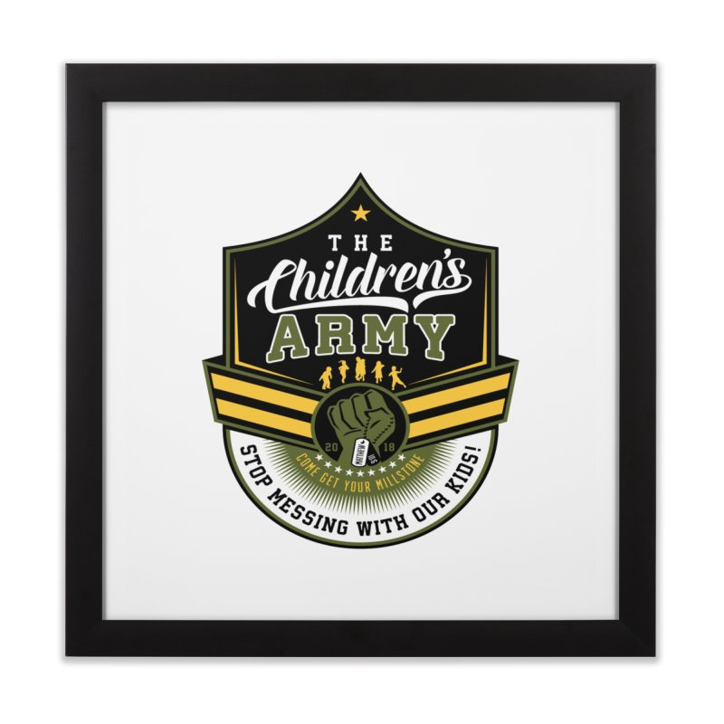 THE CHILDRENS ARMY Home Framed Fine Art Print by Abel Danger Artist Shop
