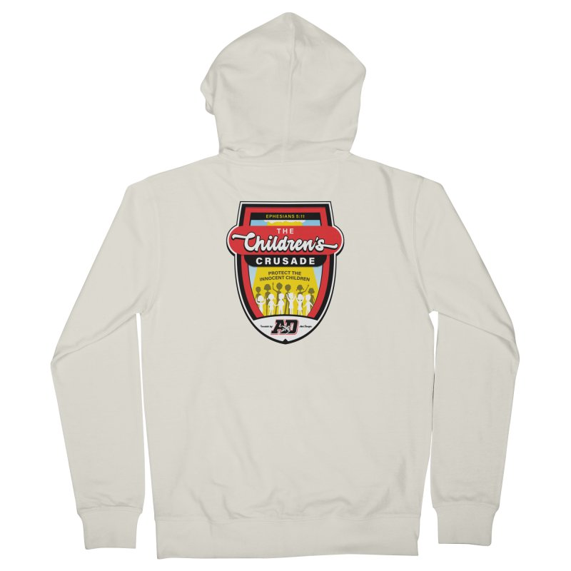 THE CHILDRENS CRUSADE Women's French Terry Zip-Up Hoody by Abel Danger Artist Shop