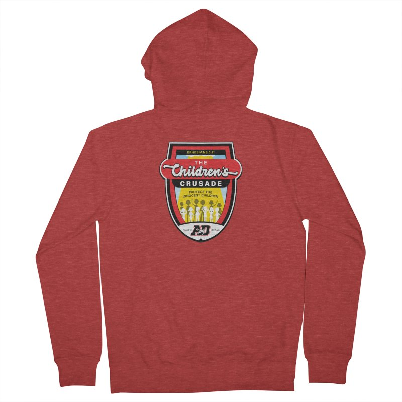 THE CHILDRENS CRUSADE Men's French Terry Zip-Up Hoody by Abel Danger Artist Shop