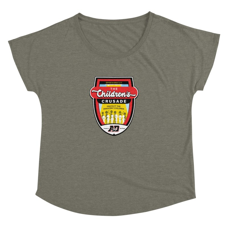 THE CHILDRENS CRUSADE Women's Dolman Scoop Neck by Abel Danger Artist Shop