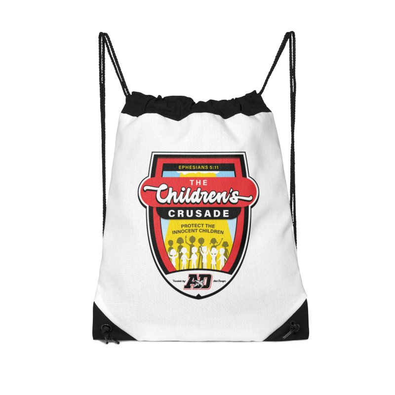 THE CHILDRENS CRUSADE Accessories Drawstring Bag Bag by Abel Danger Artist Shop