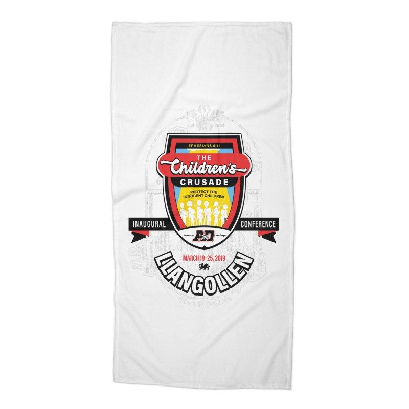 The Children's Crusade - Llangollen Event Accessories Beach Towel by Abel Danger Artist Shop