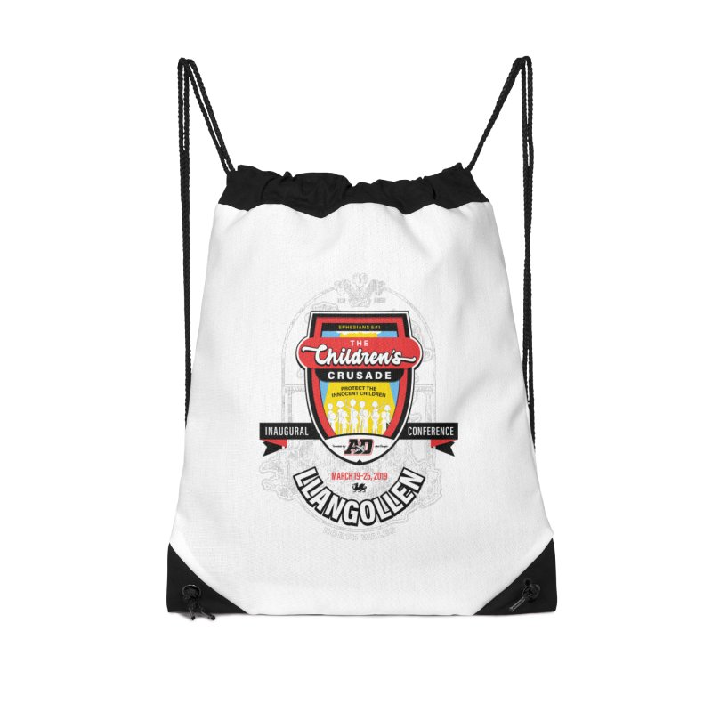 The Children's Crusade - Llangollen Event Accessories Drawstring Bag Bag by Abel Danger Artist Shop