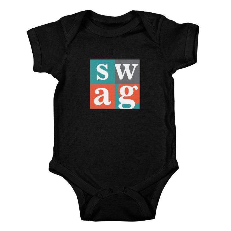 Swag Design Kids Baby Bodysuit by abhikreationz's Artist Shop
