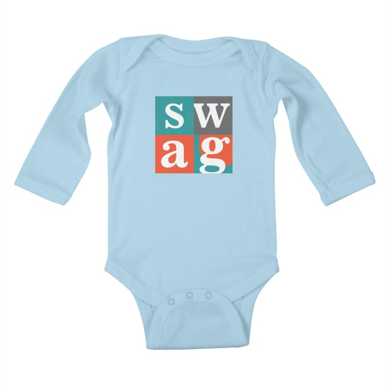 Swag Design Kids Baby Longsleeve Bodysuit by abhikreationz's Artist Shop