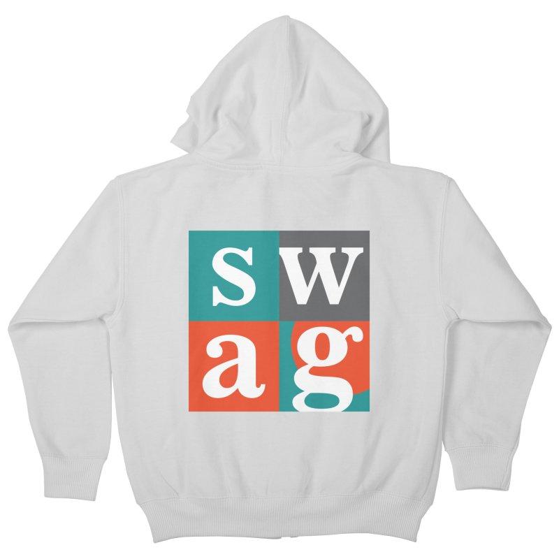 Swag Design Kids Zip-Up Hoody by abhikreationz's Artist Shop